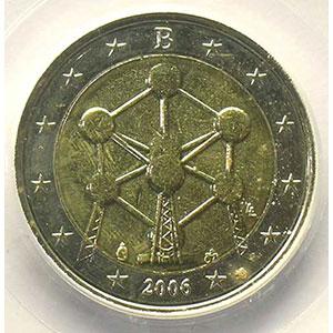 2 €   2006 Atomium   coins tournés 100° antihoraire    PCGS-MS64   pr.FDC