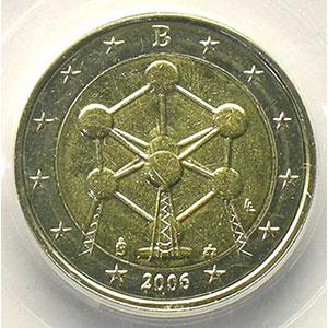 2 €   2006 Atomium   coins tournés 95° horaire    PCGS-MS64   pr.FDC