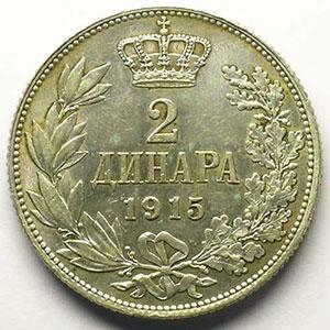2 Dinar   1915    SUP