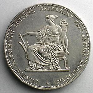 2 Florins   1879   Noces d'argent/ Silberhochzeit    SUP