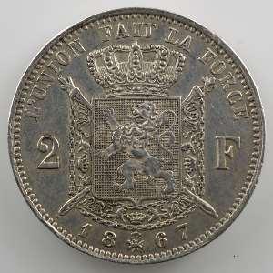 2 Francs   1867 A    TTB+/SUP