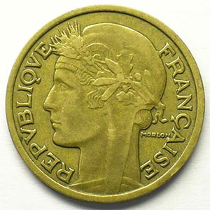 2 Francs   Morlon en cupro-alu   flan d'avers    TTB