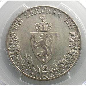 2 Kroner   1914    PCGS-AU58    SUP