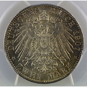 2 Mark   1907 D  (Münich)    PCGS-MS63    SUP/FDC