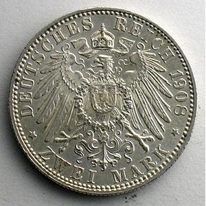 2 Mark   1908 D (Münich)    SUP