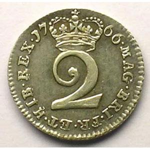 2 Pence   1766    SUP