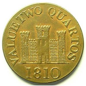 2 Quartos   1810  date 4mm    TB+/TTB