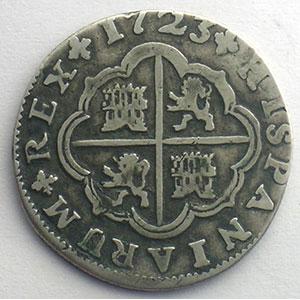 2 Réales   1723 J  (Séville)    TB+