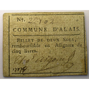 2 Sols   15 avril 1792    TTB+