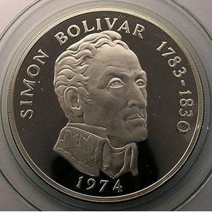 20 Balboas   Simon Bolivar   1974    BE