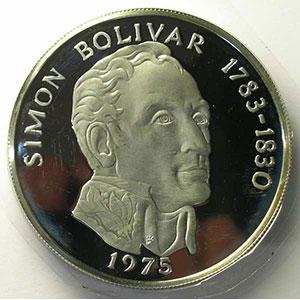 20 Balboas   Simon Bolivar   1975    BE