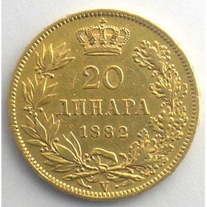 20 Dinars   1882 V  (Vienne)    TB+/TTB