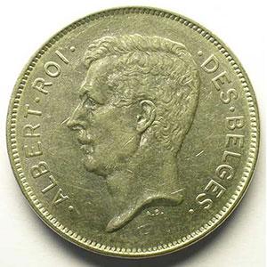 20 Francs - 4 Belgas   légende française   1932    TTB/TTB+