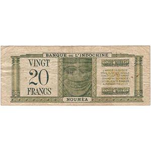 20 Francs   type 1944 surchargé France Libre    TB