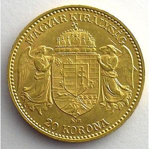 20 Korona   1897 KB (Kremnitz)    SUP