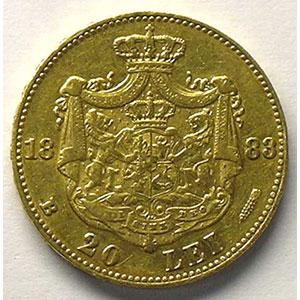 20 Lei   1883 B  (Bucarest)    TTB