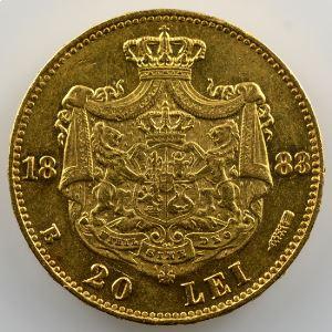 20 Lei   1883 B  (Bucarest)    TTB+/SUP