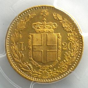 20 Lire 1882 R  (Rome)    PCGS-MS64    pr.FDC