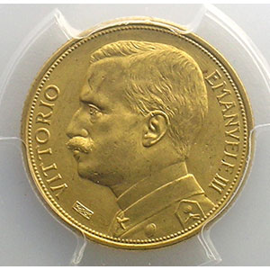 20 Lire   1912  R  (Roma)    PCGS-MS63    SUP/FDC