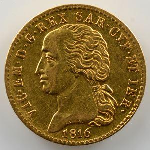 20 Lire   Victor-Emmanuel I (1802-1821)   1816  (Turin)    TTB