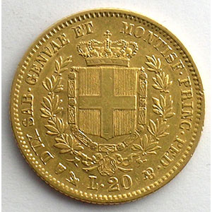 20 Lire   Victor-Emmanuel II (1849-1861)   1854 P  (Gênes/Genova)    TTB