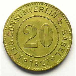 20 (Rappen) 1927   Lt, R,   21 mm   TTB