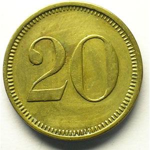 20 (Rappen)   Lt,R,   22 mm   TTB