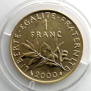 2000   épreuve en or    FDC