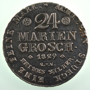 24 Mariengroschen 1829   TB+/TTB