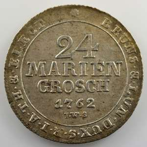 24 Mariengroschen  (2/3 Thaler)   1762 IWS    SUP