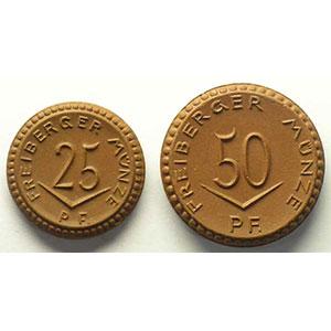 25, 50 Pf   1921   Porcelaine brune    SUP/FDC