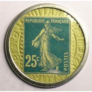 25 Cent bleu/blanc    SUP