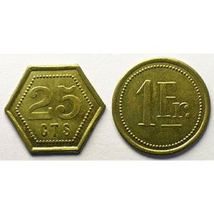 25 cent et 1 Franc    SUP