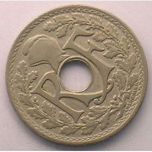 25 Centimes 1917   coins tournés à 45° anti-horaire    TTB