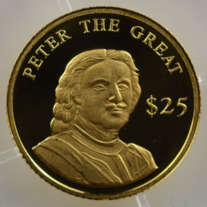 25 Dollars   2000   Peter the Great (Pierre le Grand)    BE