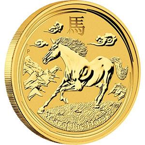 25 Dollars   2014   année du cheval    BE