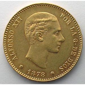 25 Pesetas   1878 EM-M    SUP