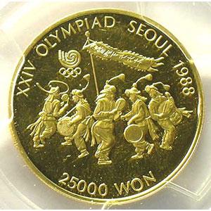 25000 Won   1986    PCGS-PR63+DCAM    BE