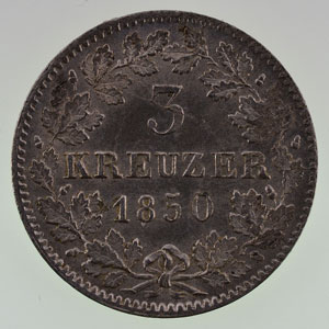 3 Kreuzer  1850   SUP/FDC