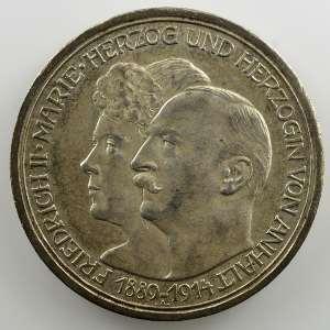 3 Mark   1914 A   25° anniversaire de mariage (1889-1914)    SUP