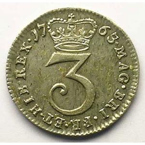 3 Pence   1763    SUP