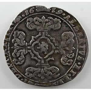 3 Stuiver   Albert et Isabelle  (1598-1621)   1619  Bruxelles    TB+/TTB