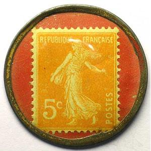 5 Cent orange/rouge    TB+/TTB