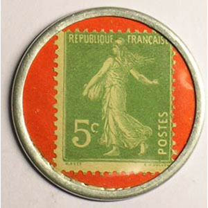 5 Cent vert/rouge    SUP