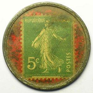 5 Cent vert/rouge    TTB