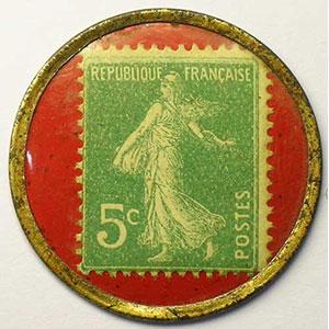 5 Cent vert/rouge    TTB+/SUP