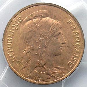 5 centimes   1916 étoile   coins tournés à 60° anti-horaire    PCGS-MS64RD   pr.FDC