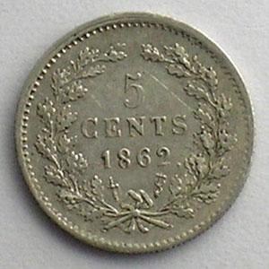 5 Cents   1862    TTB+/SUP