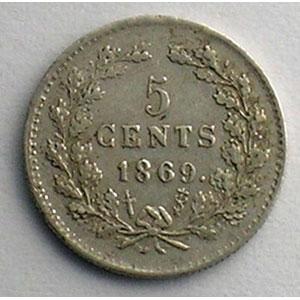 5 Cents   1869    TTB+/SUP