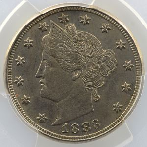 5 Cents   Liberté   1883 (with Cents)    PCGS-MS63    SUP/FDC